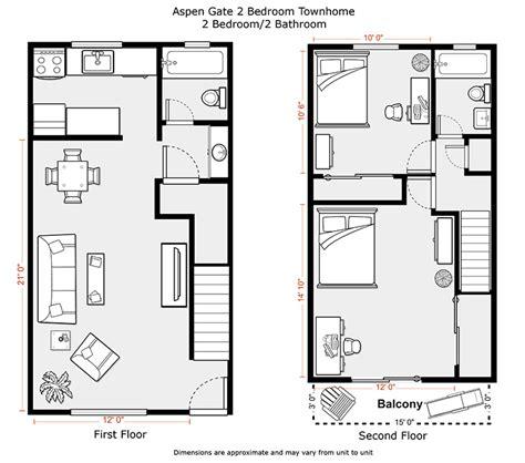 2 Bedroom Townhouse Floor Plans Wwwpixsharkcom