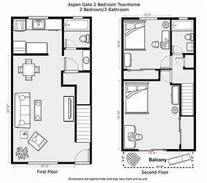 Apartments : Floor Plan 2 Bedroom Apartment Two Bedroom