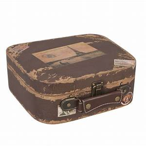 Valise En Bois : deco mariage vintage valise r tro bois souvenir de paris ~ Teatrodelosmanantiales.com Idées de Décoration