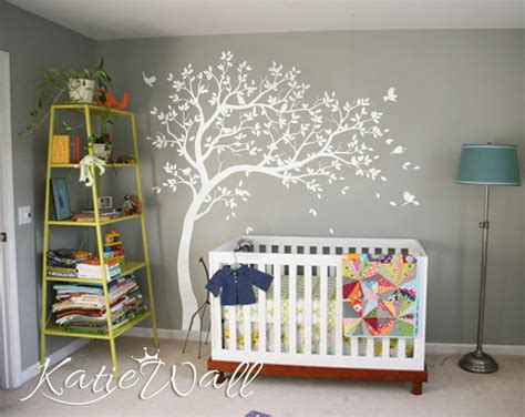stickers arbre chambre bébé unisex baby room decoration large customizable nursery