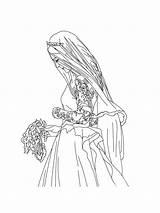 Bride Coloring Pages Bright Printable Choose Colors Favorite sketch template