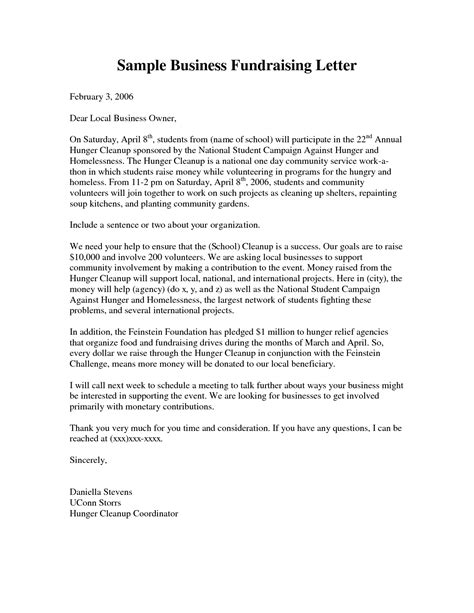 business fundraising letter sample fundraising letters