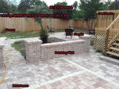 patio fences and walls best price on paver driveways ta florida patios