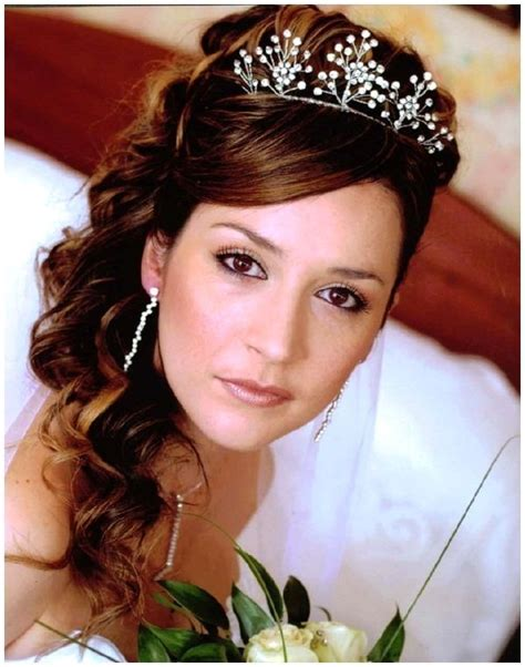 Half Up Wedding Hairstyles With Tiara by Half Up Half Bridal Hair With Tiara Half Up Half