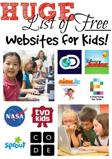 free educational websites free education websites for kids kindergarten pinterest