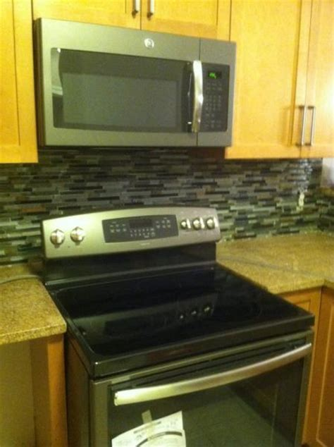 dried grout  stone  mosaic backsplash