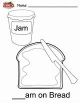 Coloring Breadbox Jam Template sketch template