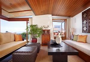 Dream, Home, With, Interior, Zen, Garden, And, Pacific, Ocean, View