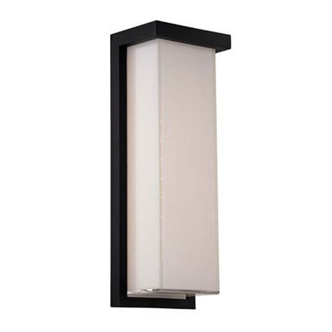 modern led outdoor wall light in black finish ws w1414