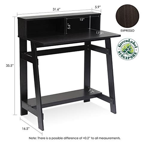 furinno simplistic computer desk furinno 14054ex simplistic a frame computer desk espresso