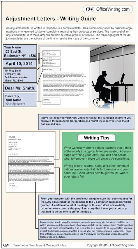 adjustment letter sample   business letter