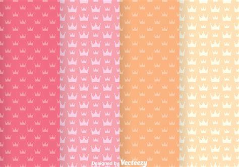 sweet crown girly vector patterns   vectors