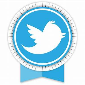Twitter Icon | Round Ribbon Social Iconset | S-Icons
