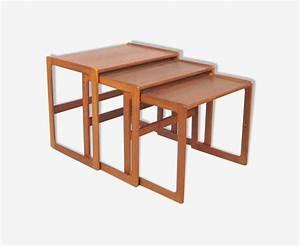 Table Basse Gigogne Scandinave : table basse gigogne en teck 1950 teck bois couleur ~ Voncanada.com Idées de Décoration