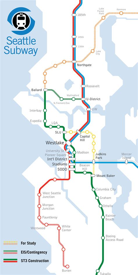light rail map seattle ballard to downtown must be done right