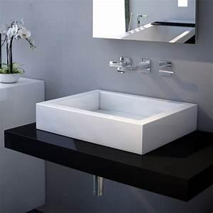 Waschtisch 50 X 40 : waschbecken eckig ohne hahnloch ~ Bigdaddyawards.com Haus und Dekorationen