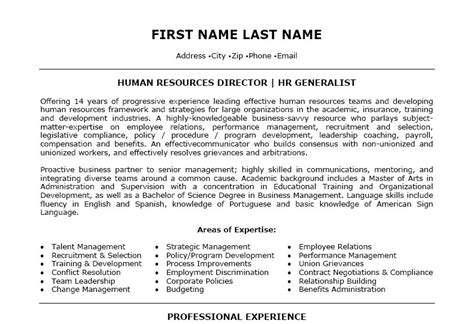 Director Of Human Resources Resume by Human Resources Director Resume Template Premium Resume Sles Exle