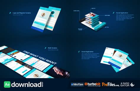 Aftet Effects Templates Nulled by After Effects App Presentation Template Free Download App