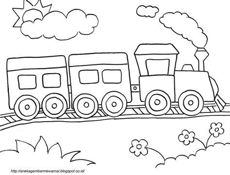 Coloring Kereta Api by Gambar Mewarnai Kereta Api Untuk Anak Paud Dan Tk Aneka