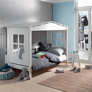 Lit Cabane Mezzanine : notre lit cabane en pin massif pour vivre comme robinson sur son le ~ Melissatoandfro.com Idées de Décoration