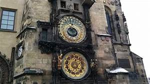 Prague astronomical clock ringing on the hour - YouTube
