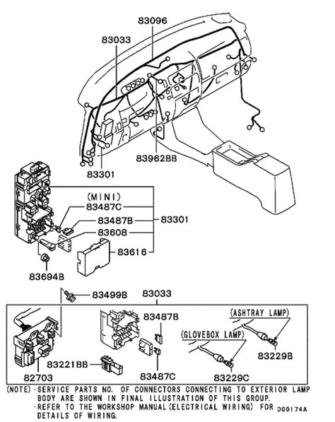 wiring attaching parts for 2001 2007 mitsubishi l200