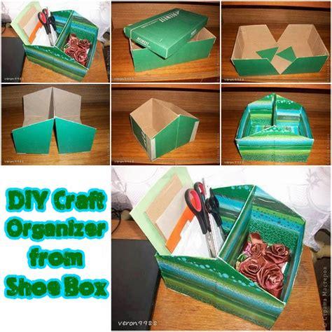 astute homestead diy craft organizer  shoe box