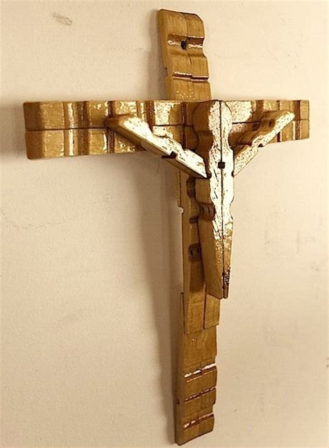 clothespin crucifix clothes pin crafts clothespin cross