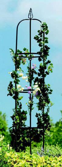 Metal Outdoor Garden Obelisk  Plant Climbing Frame Ebay