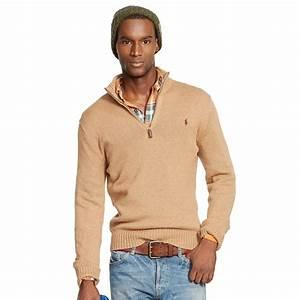 Lyst - Polo ralph lauren Cotton Half-Zip Sweater for Men