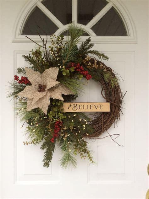 christmas wreath decorating christmas wreaths holiday wreath rusty sleigh bell wreath wooden sign believe wreath rustic