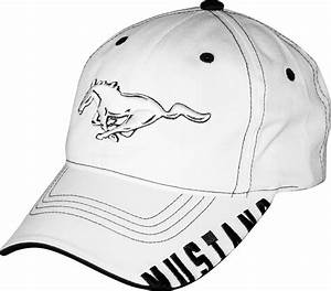 Ford Mustang Licensed Cotton White and Black Hat   eBay