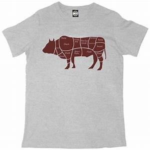 Cuts Of Beef Cow Diagram Mens Printed Chefs T