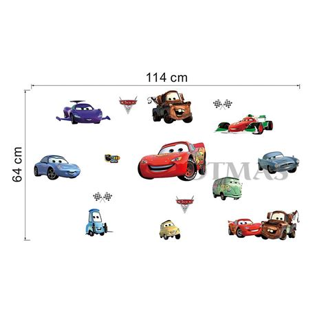 stickers disney chambre b disney cars large wall stickers room decor official
