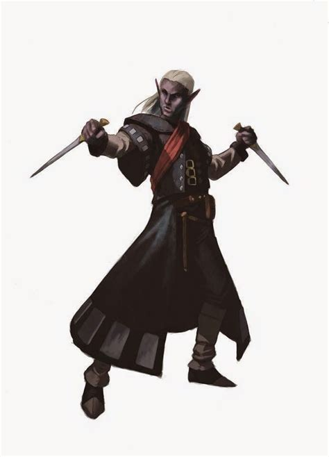 drow 5e elf male dragons dungeons dark fantasy elves rogue characters monster assassin rpg half character build executioner race