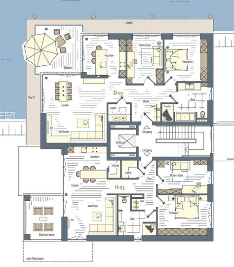 Grundriss Barrierefreies Wohnen by 3 Zimmer Wohnungen 1 3 Obergeschoss Variante 3