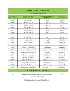 biweekly payroll calendar template template business