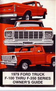 1979 Ford Truck Owners Manual User Guide Reference