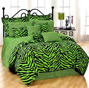 karin maki lime green zebra bedding comforter set