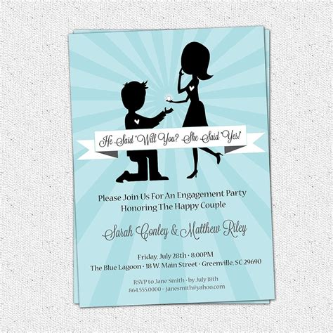 engagement party invitation templates funny wedding