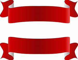 clipart red ribbons banner #40215 - Free Icons and PNG ...