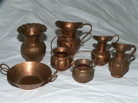 vintage minature copper pots pan set collectors weekly
