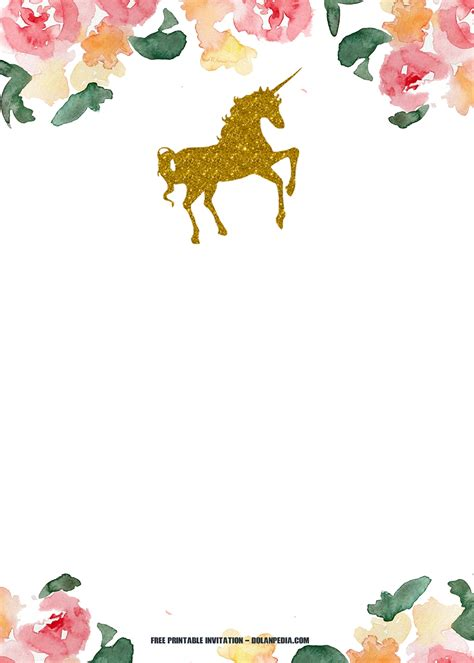 printable unicorn invitation template dolanpedia