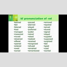 How To Pronounce The Reguler English Verbs With Ed Ending Youtube
