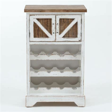 White Wood Wine Cabinet by Winsome House White And Wood Wine Cabinet Whif369