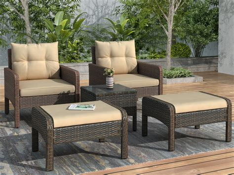 Sale ends in 2 days 1.7k. Outdoor Bistro Chairs Set for Patio, BTMWAY All-weather Rattan Outdoor Patio Conversation Lounge ...