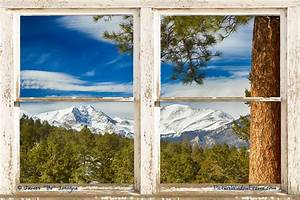 colorado rocky mountain rustic window view art rustic With kitchen cabinets lowes with rocky mountain national park sticker