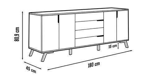 cajonera kit aparador de sal 243 n mack4 serie wave en color nogal y negro con pata vintage