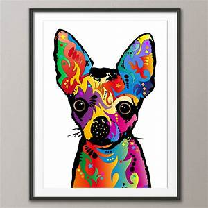 chihuahua dog pop art print by artpause ...