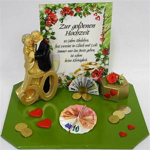 Geldgeschenk Zur Goldenen Hochzeit Goldpaar
